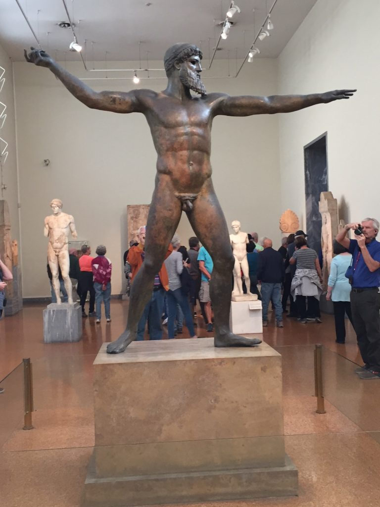 Athens; Athens National Archaeological Museum; god of Zeus; boomer travel; post 50 travell