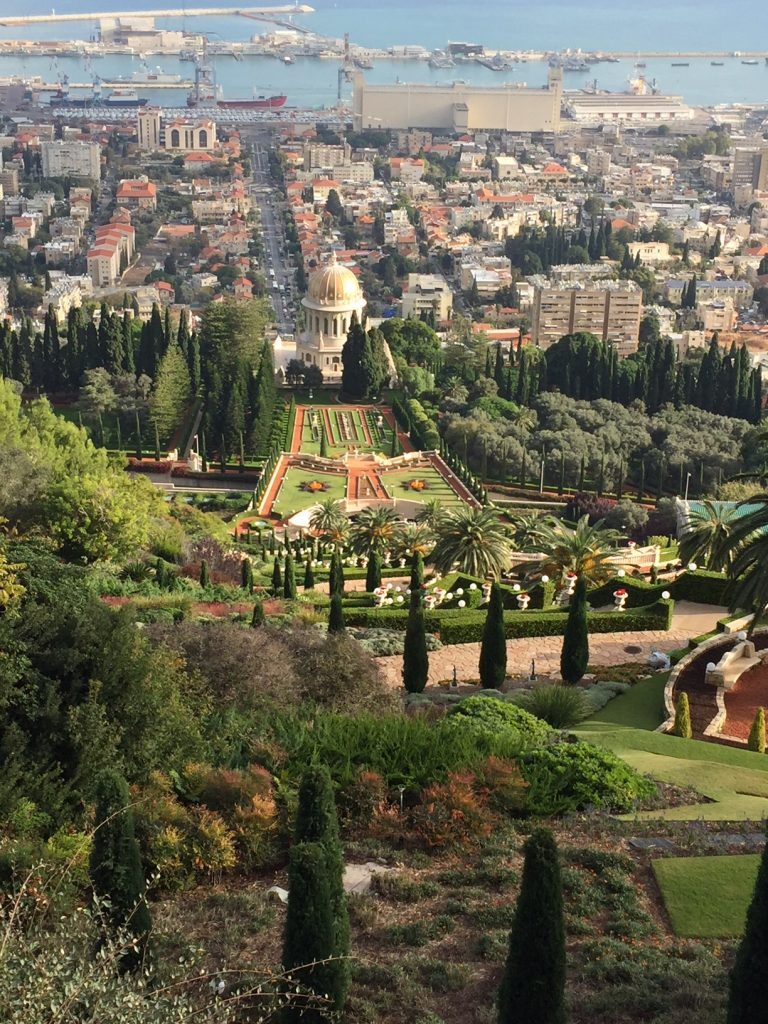 The Hanging Gardens in Haifa; Mt. Carmel in Haifa; Haifa; Israel; Viking Ocean Cruises