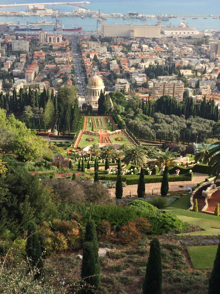 The Hanging Gardens in Haifa; Mt. Carmel in Haifa; Haifa; Israel; Viking Ocean Cruises