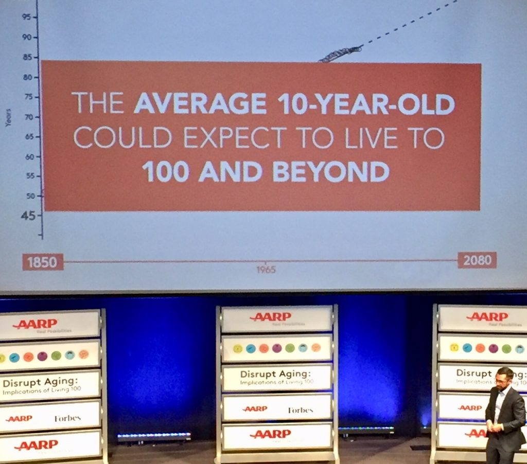 #disruptaging; AARP; Live 100; living to 100; Jonathan Stevens; longevity