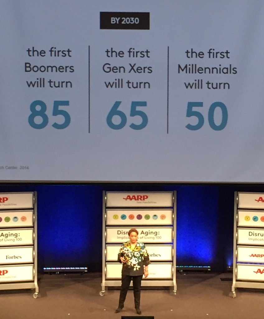 #disruptaging; AARP; Live 100; living to 100; aging