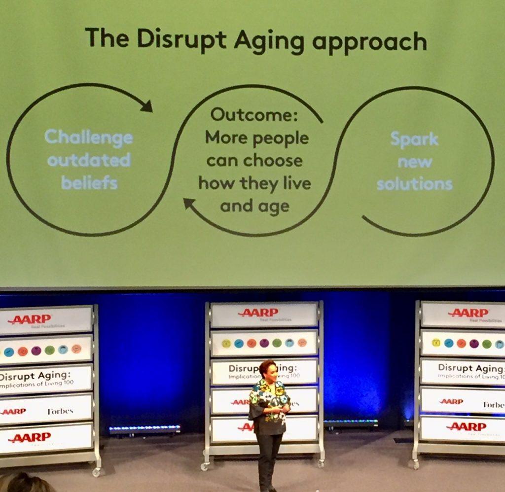 #disruptaging; AARP; Live 100; living to 100; longevity; aging