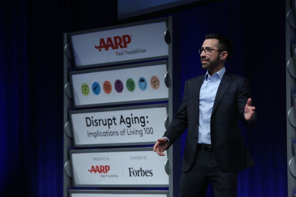 #disruptaging; AARP; Live 100; living to 100