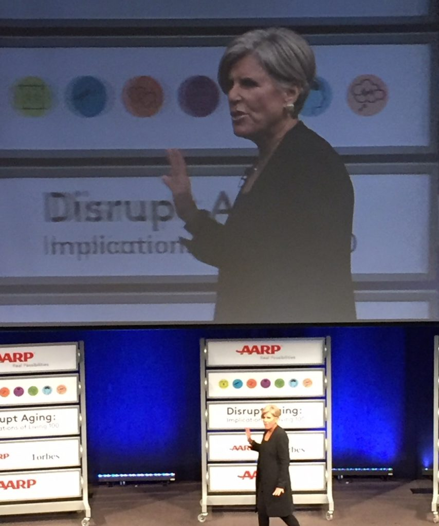 Suze Orman; Disrupt Aging; AARP; #live100