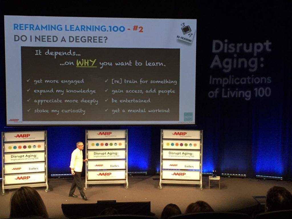 disrupt aging; lifelong learning; #live100