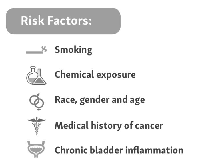 Risk factors for bladder cancer; bladder cancer