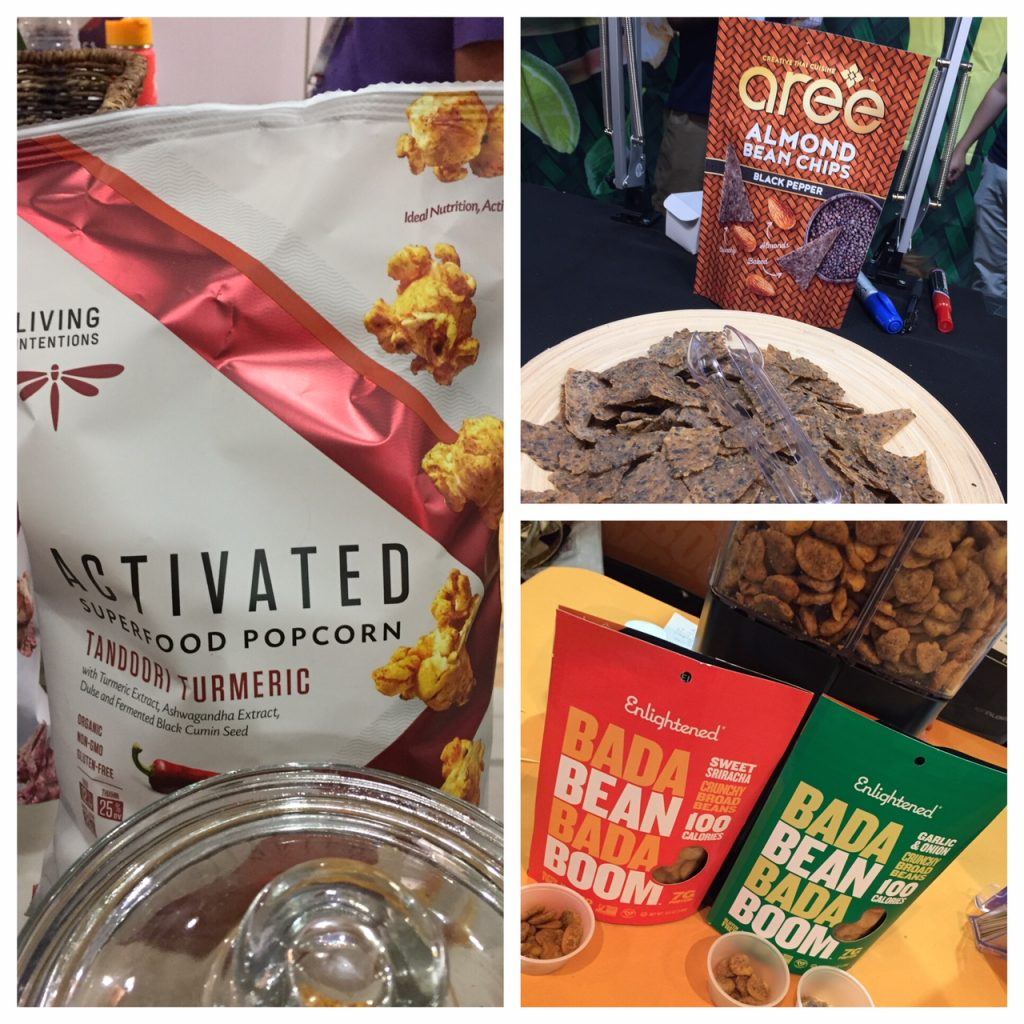 Activated Popcorn with superfoods; Chickpea chips; Almond chips; foodie adventure