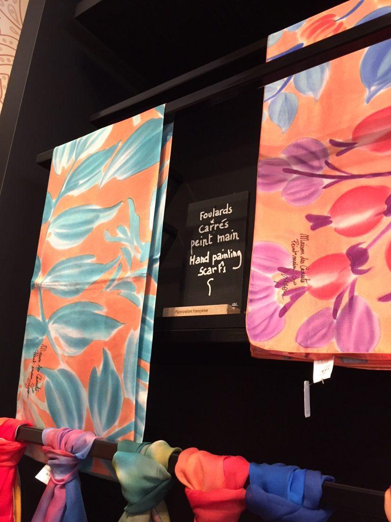 Maison des Canuts silk shop; Lyon silk scarves.