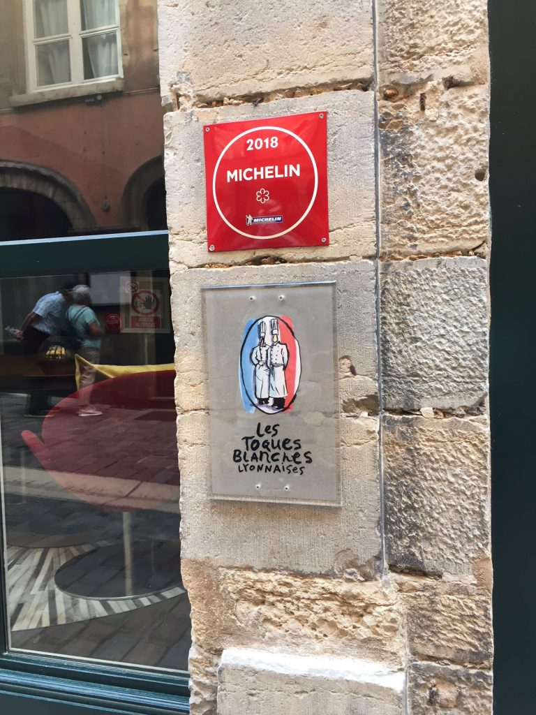 Michelin Star restaurants in Vieux Lyon.