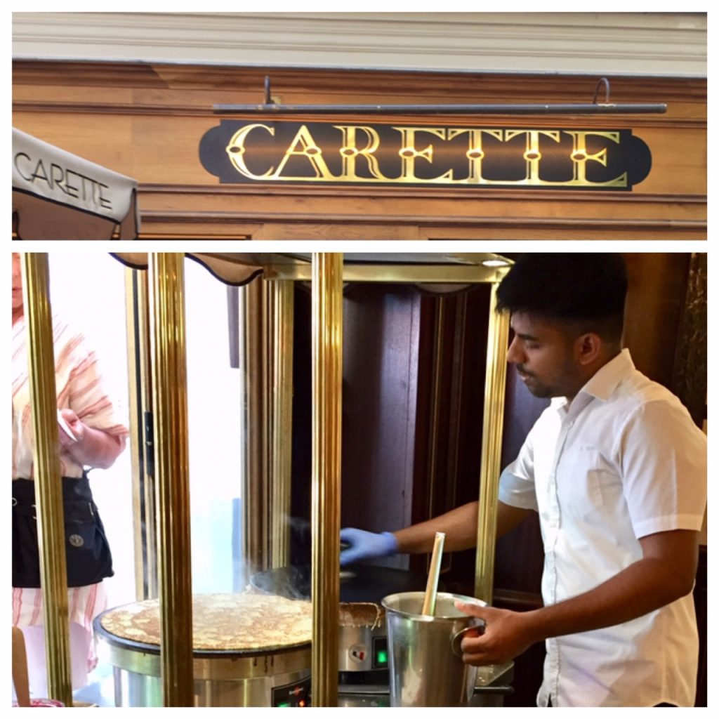 French crepes; Carette french crepes