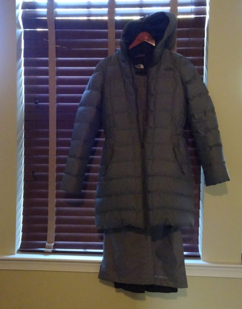 Northface down jacket; waterproof pants; packing for the Collette Northern Lights of Finland Tour