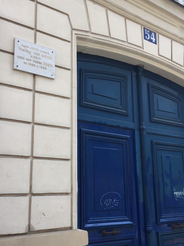 Vincent Van Gogh's original residence in Montmartre