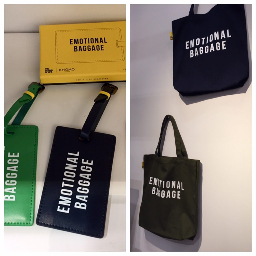 Emotional baggage luggage tags