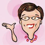 Baby boomer blogger JudiBoomergirl caricature