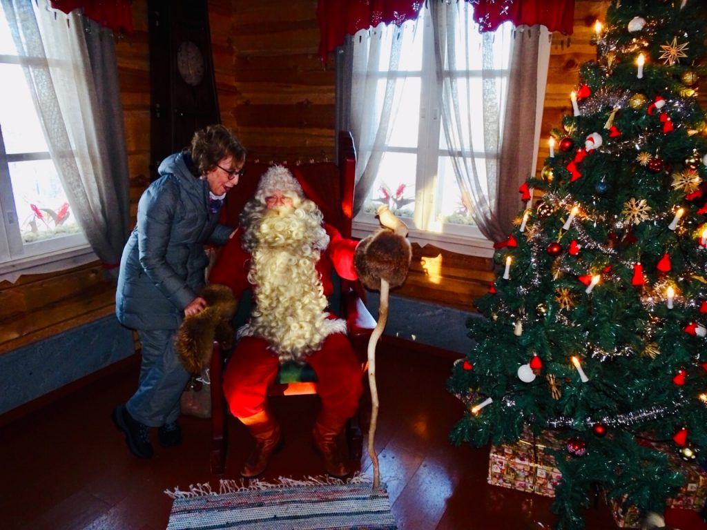 Santa Claus in Lapland; visiting Santa Claus in Lapland