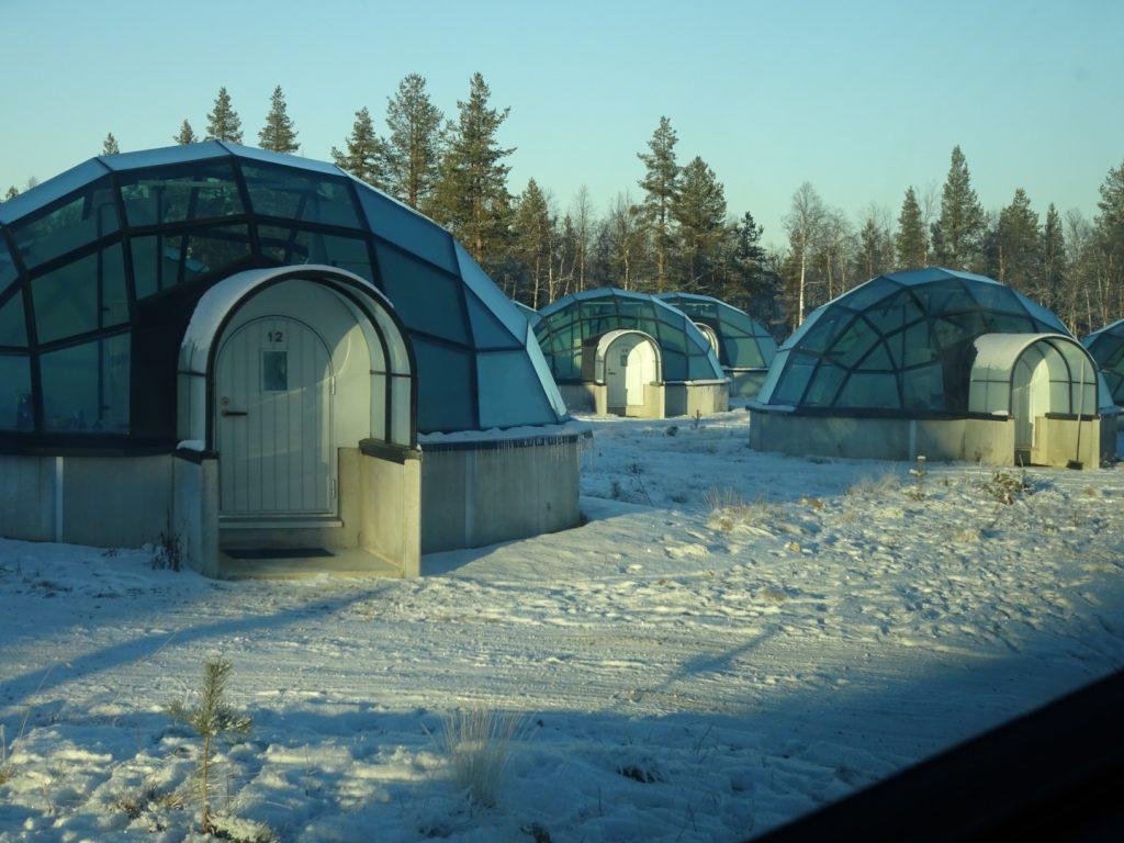 Glass Igloo; Kakslauttanen Arctic Resort glass igloo; Lapland igloo