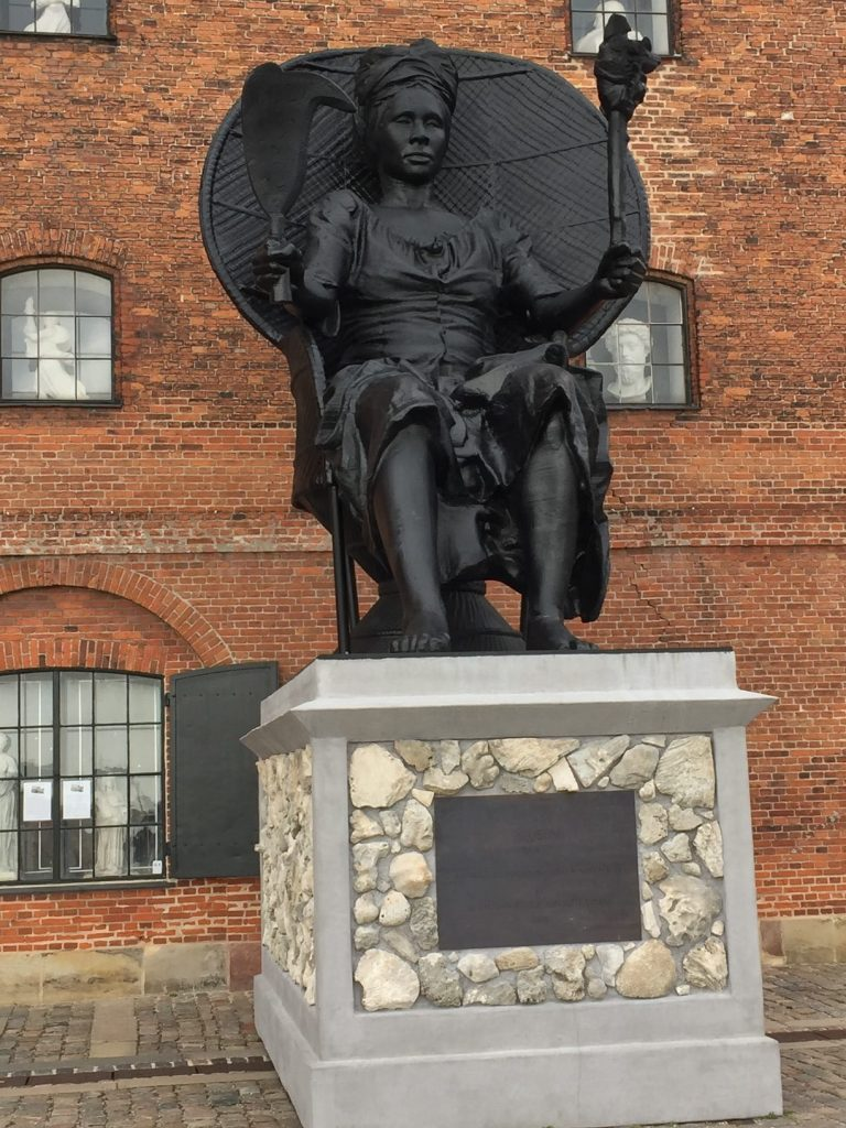 Queen Mary Statue in Copenhagen; Viking Homelands