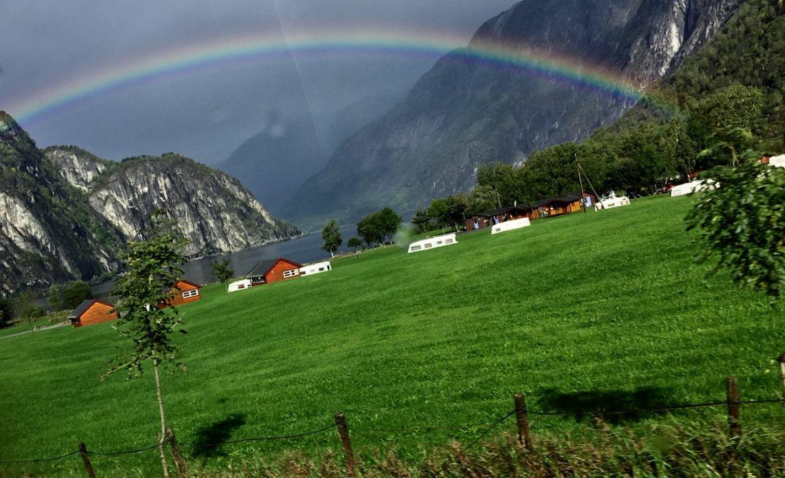 the village of Eidfjord; Eidfjord, Norway