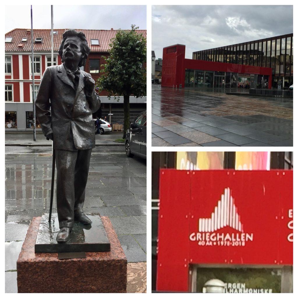 Bergen Philharmonic Building; Edvard Grieg statue