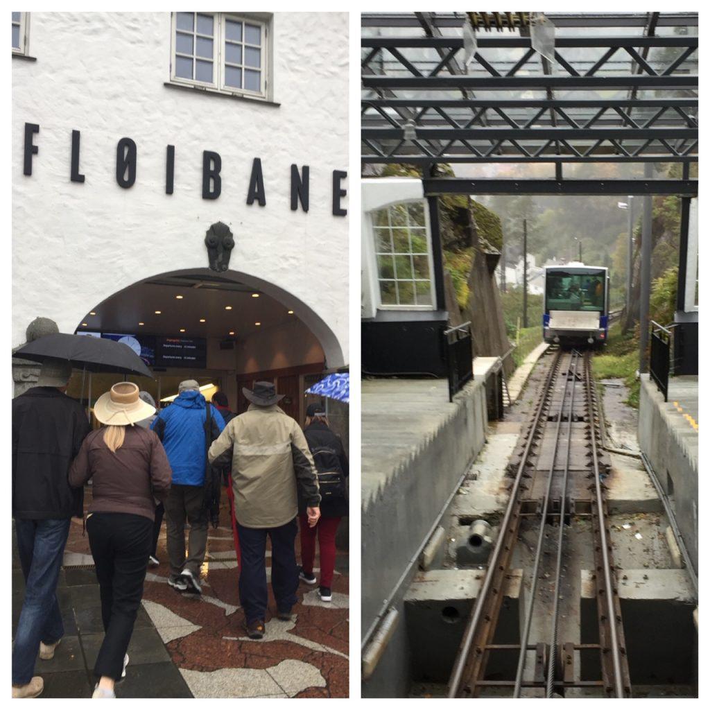 Fløyen funicular in Bergen, Norway