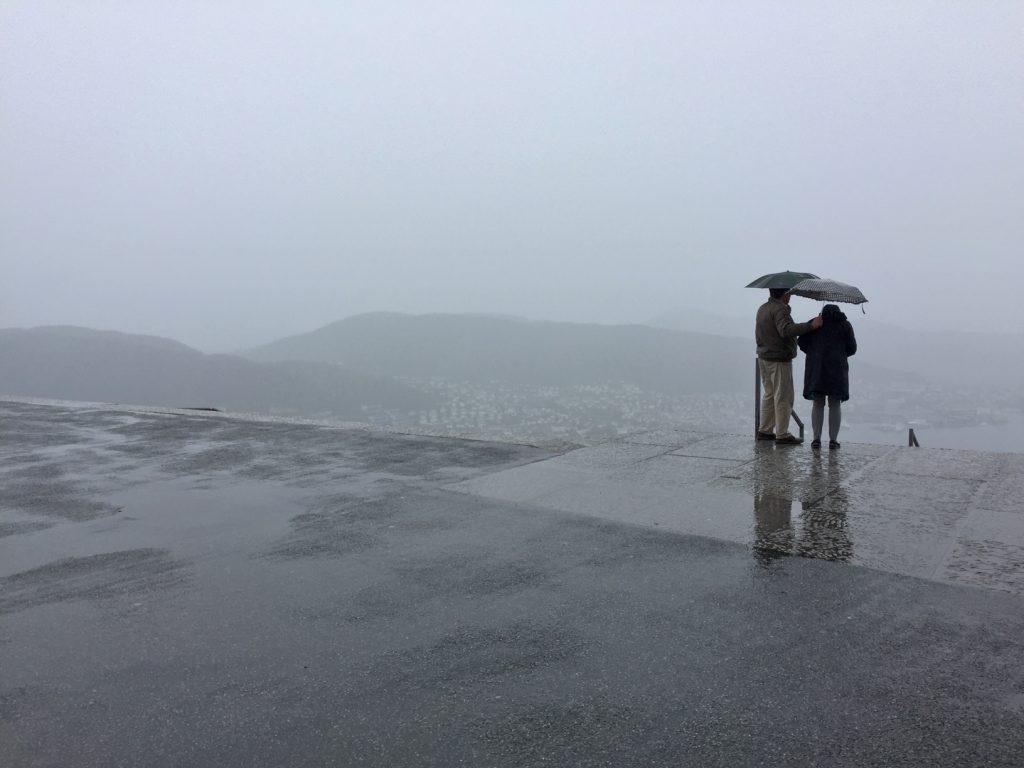 Fløyen mountain top in Bergen, Norway