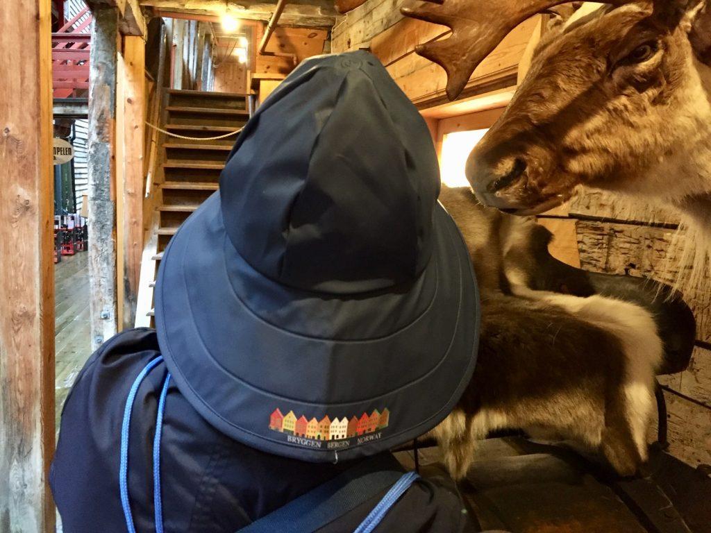Norwegian sou'wester rain hat