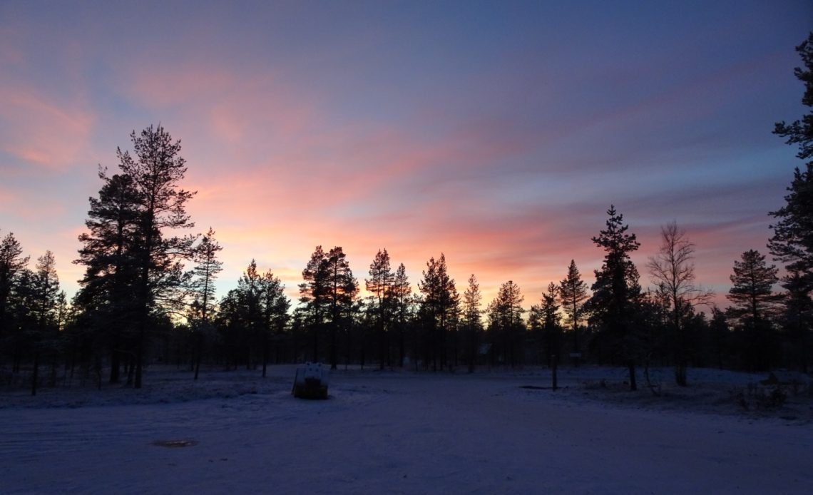 Lapland sunset