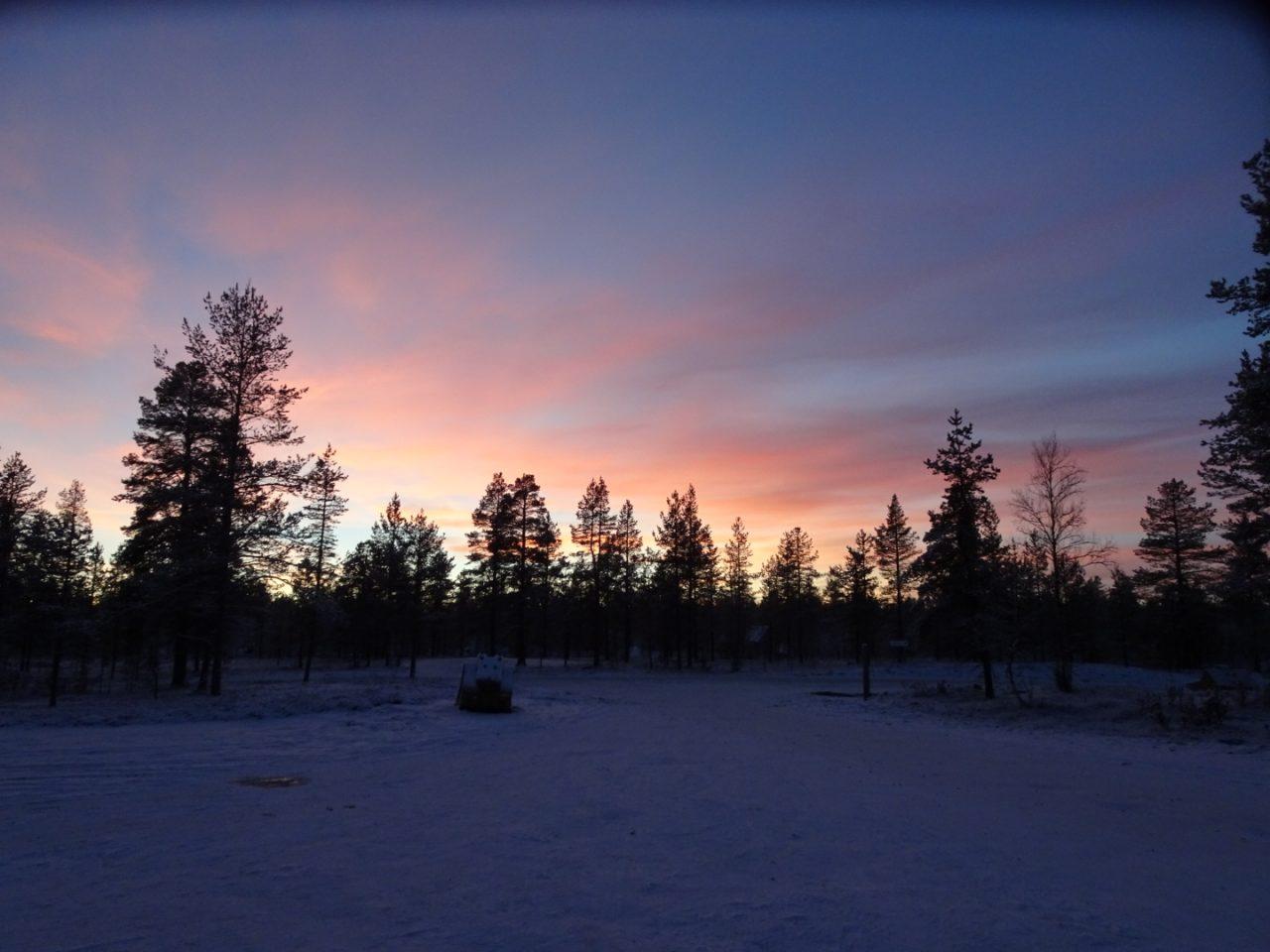 Finnish Lapland sunset