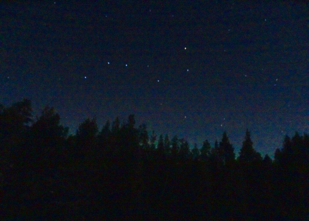 Big dipper in Lapland sky