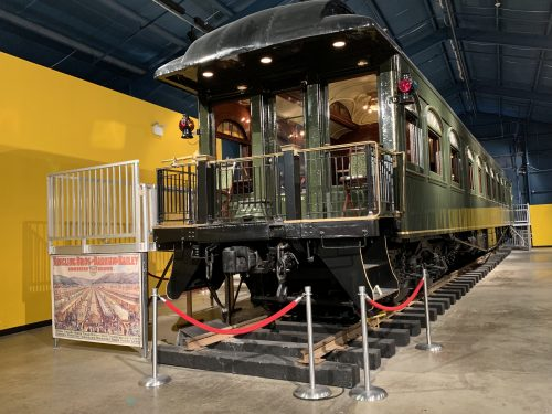 John Ringling's original railcar at The Ringling Circus Museum