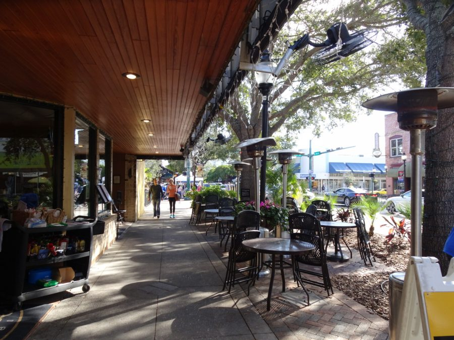 Downtown street in Sarasota