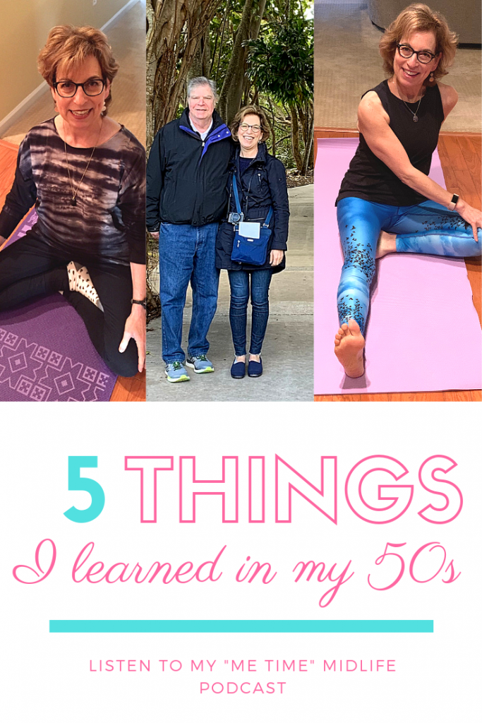 5 things I learned in my 50s graphic