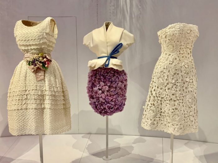 Dior exhibit garden dresses
