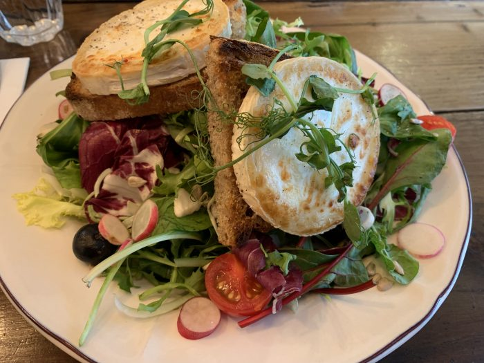 Chez Antoinette's goat cheese salad