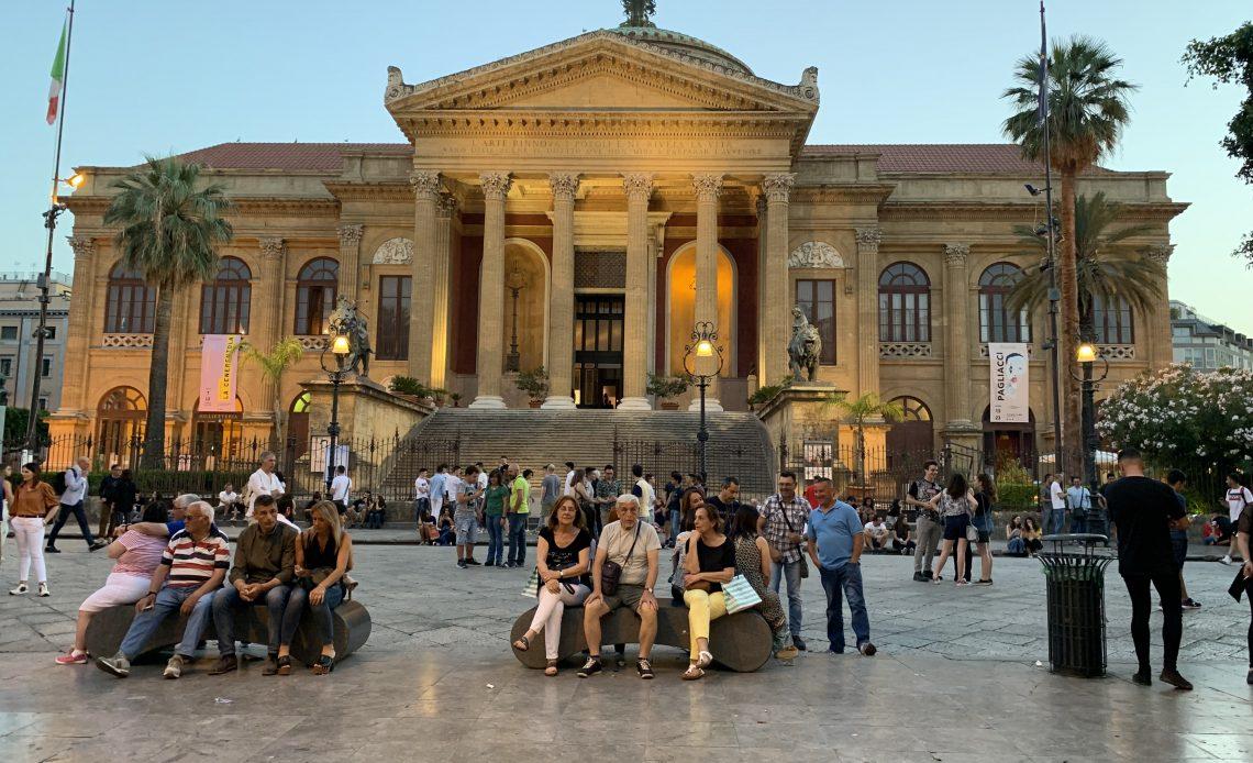 Palermo City at night