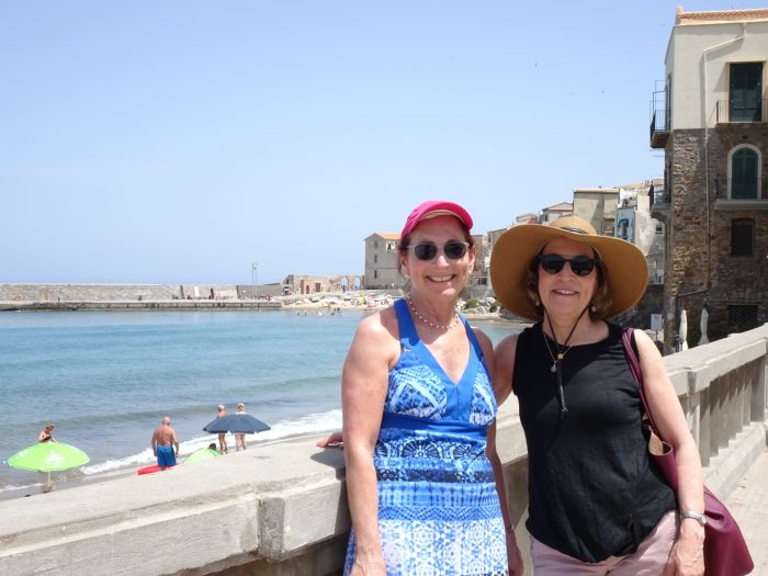 Nancy and Judy in Cefalu