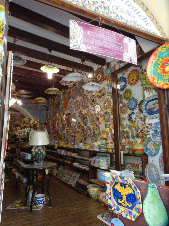 Cefalu pottery shop