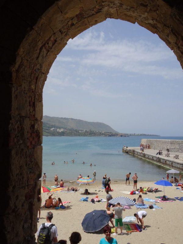 archway of Porta Pescara in Cefalu