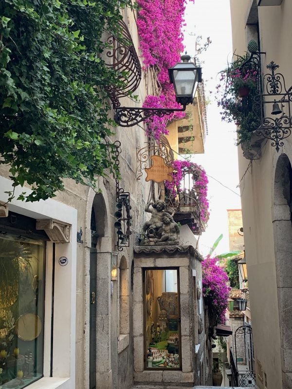 Taormina downtown street