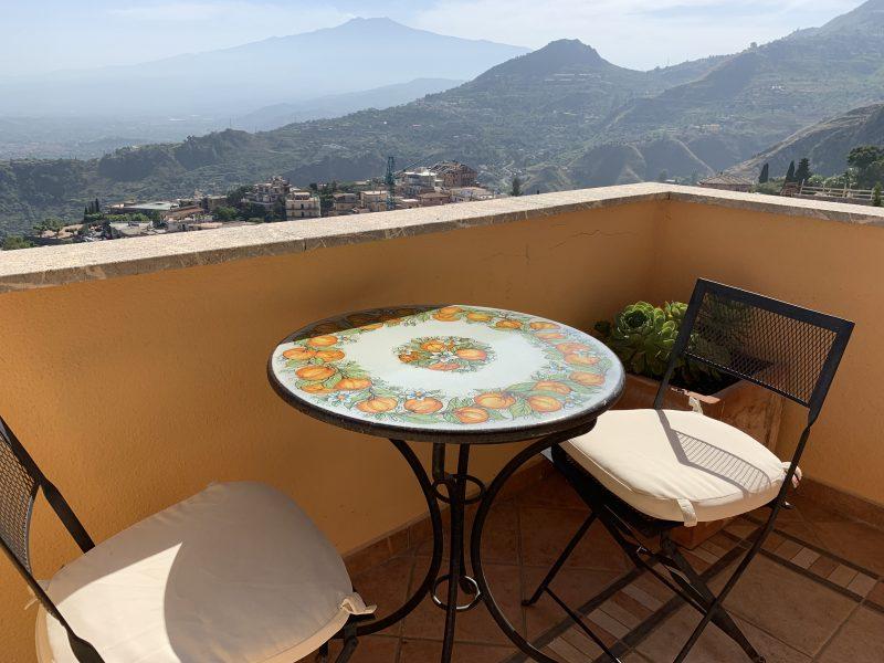 Balcony at Villa Le Terrazze Taormina