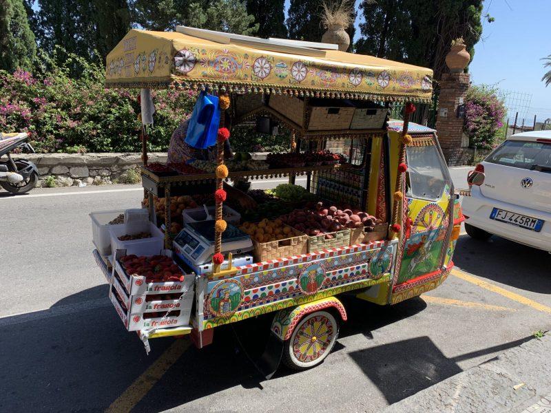 Fruit cart in Taormina