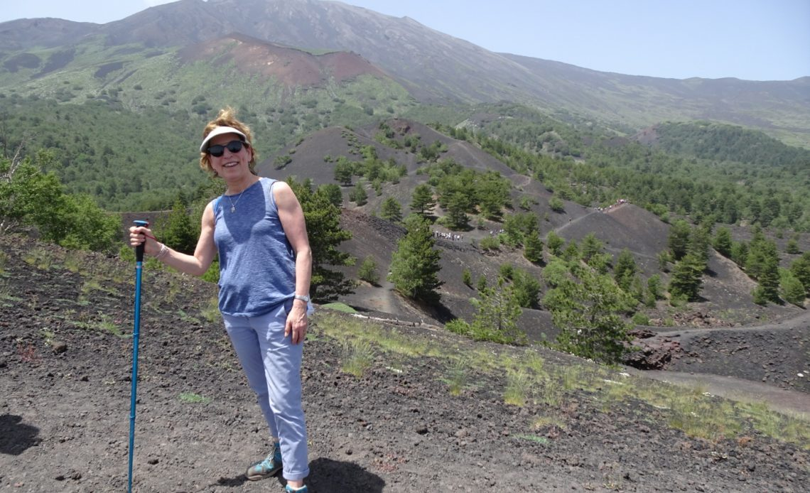 At top of Mt. Etna