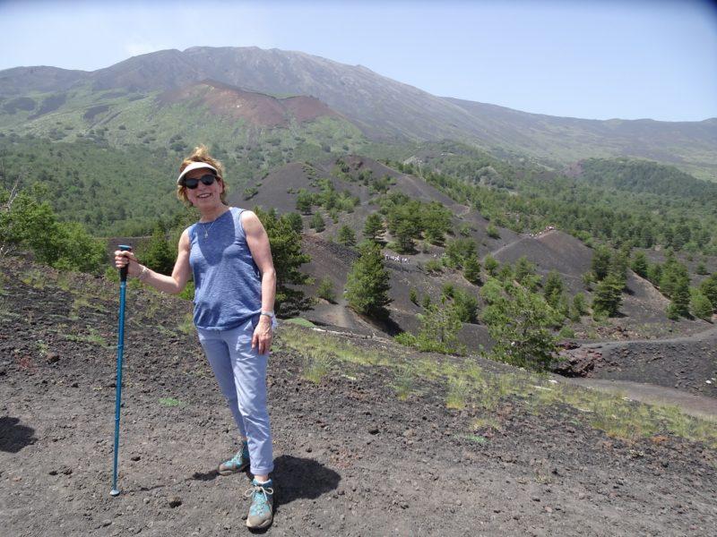 At top of Mt. Etna