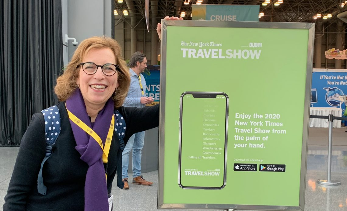 Judy at NY Times Travel Show