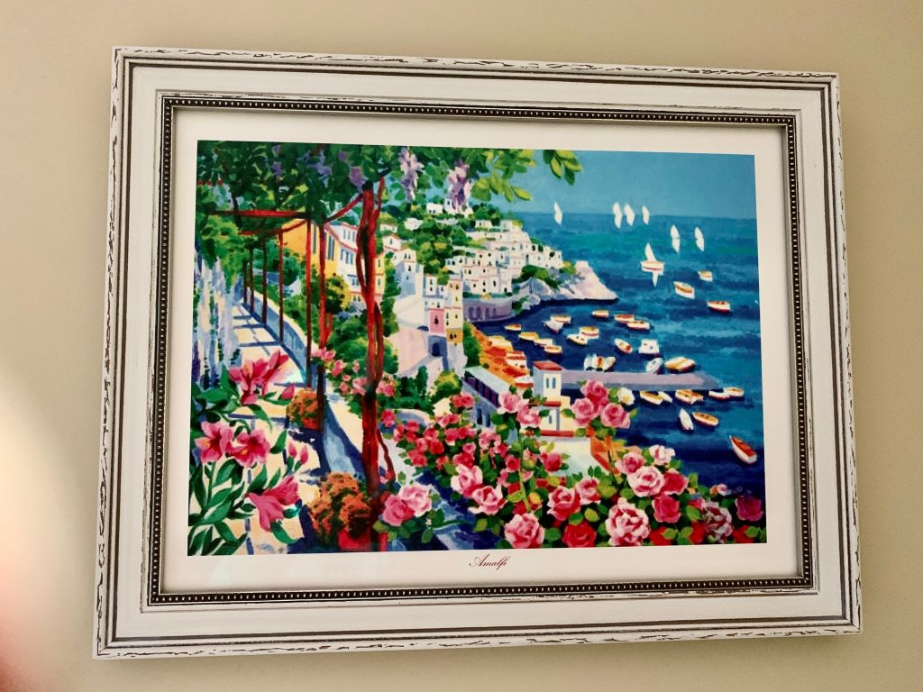 Watercolor of the Amalfi coast