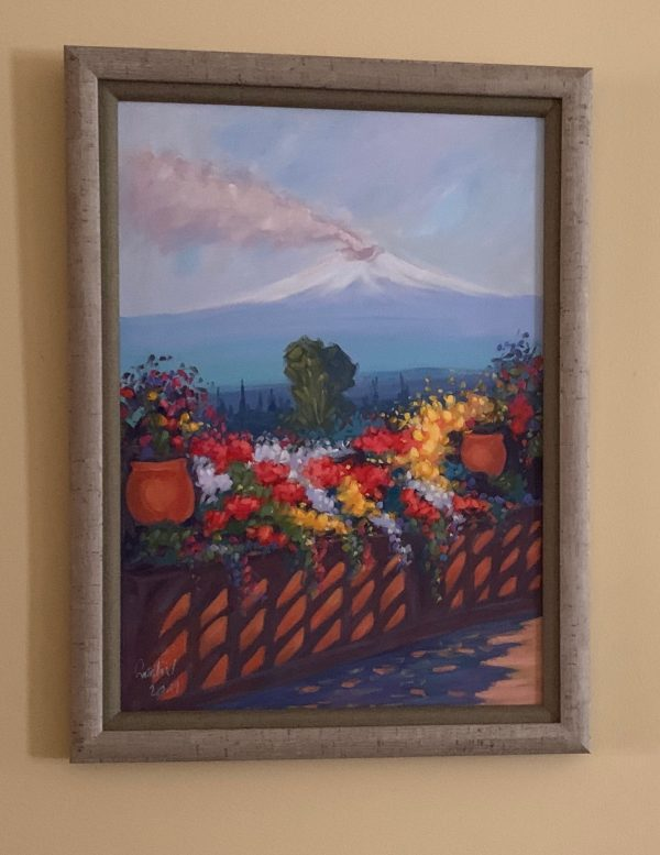 Mt. Etna painting