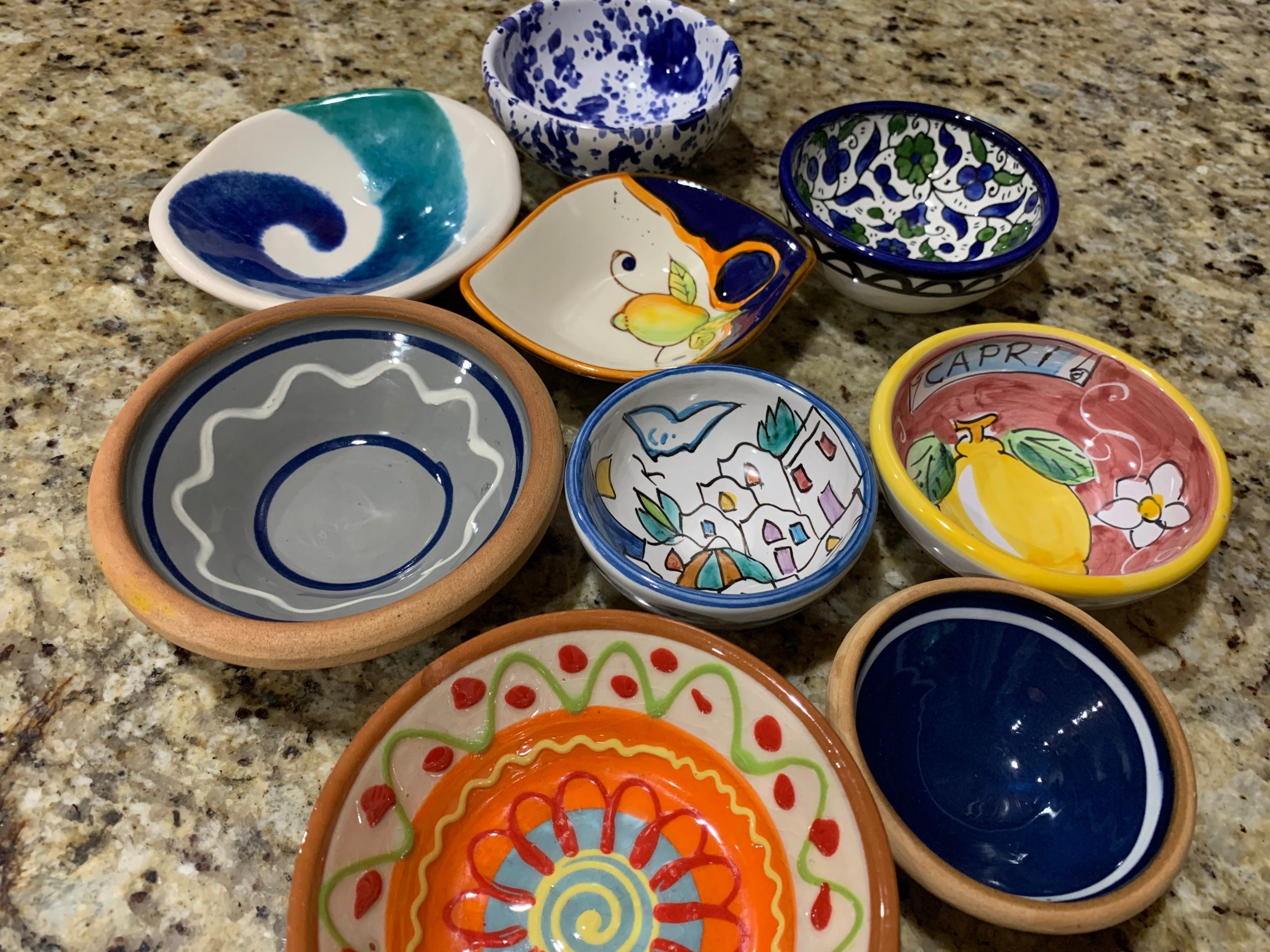 ceramic bowls from different countries