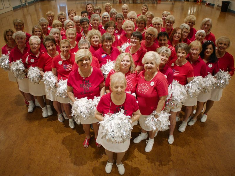 Cheerleaders at The Villages, FL