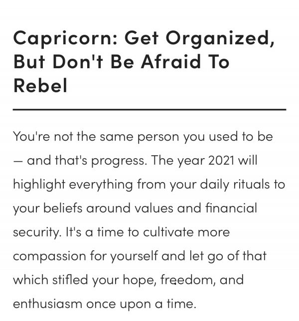 Capricorn 2021 horoscope