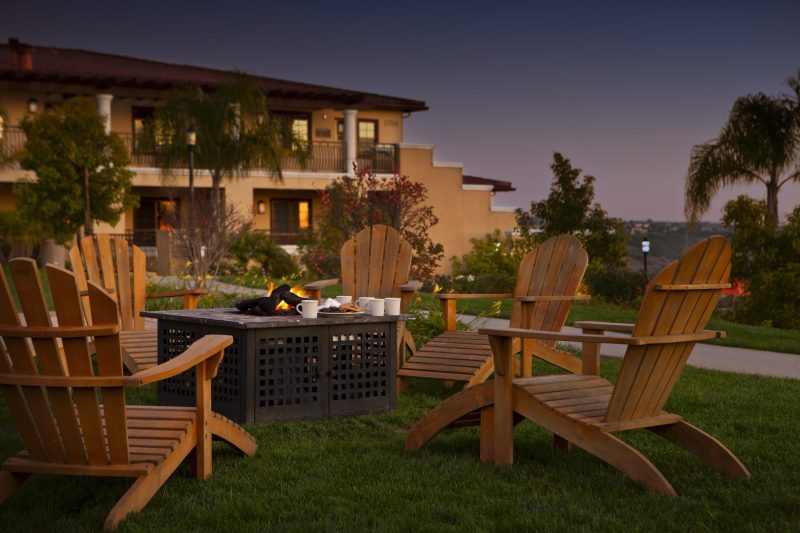 Hilton Grand Vacations at MarBrisa fire pit and chairs